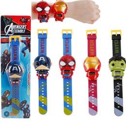Discount superheroes pin - Kids Avengers deformation watches 2019 New Children Superhero cartoon movie Captain America Iron Man Spiderman Hulk Watc