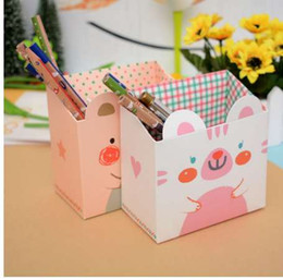 Pen Boards UK - DIY Foldable Paper Board Office Organizer Round Cosmetic Pencil Pen Holders Stationery Container School Office Supplies