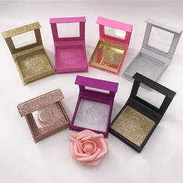 $enCountryForm.capitalKeyWord Australia - Empty Eyelashes Boxes Square Packaging Wholesale Custom Gold Silver Pink Black Color Empty Box for 16mm 20mm 25mm Lashes