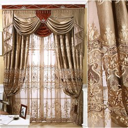 Wholesale European Imported Locke Kingdom High Precision Stereo Embroidery Curtains for Living Dining Room Bedroom