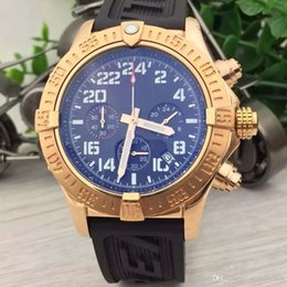 Quartz stainless steel black red band online shopping - Aviator Watch MM Reliable Mens Wristwatches Watch Gold Steel Case Quartz Chronograph Date Men Watches With Black Rubber Band
