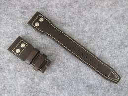 X Replace Australia - 22MM x 18mm TOP QUALITY cow GENUINE LEATHER STRAP BAND used FOR Big Pilot men WATCH REPAIR BRACELET REPLACE FIX ACCESSORY