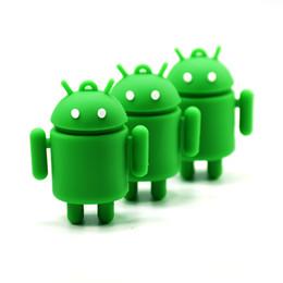 $enCountryForm.capitalKeyWord Australia - Robot Usb Flash 4gb 8gb 16gb 32gb 64g Cartoon Android Pen Drive Green U Disk Memory Stick Machine Pendrive