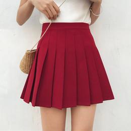 1de1322862f High Waist Lolita Pleated Skirts Girls A-line Mini Sailor Skirt Plus Size  School Uniform Skirts free shipping