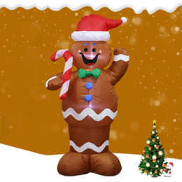 balloon santa claus UK - HobbyLane 1.5m Inflatable Gingerbread Man Prop for Christmas Party Yard Decor Santa Claus Decoration Balloons