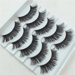 $enCountryForm.capitalKeyWord Australia - 5 Pairs New Women Ladies Makeup Thick False Eyelashes Eye Lashes Long Black Nautral Handmade Makeup Beauty Tools Hot