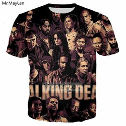 6af1eb64f Horror Tv The Walking Dead Rick 3d Print T Shirt Men women Punk Streetwear T -shirt Boy Vintage Loose Tshirt Men Clothes Big Size C19041701