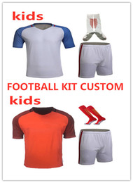 Wholesale Kids Custom personality soccer jersey Sets Print custom number and name child short sleeve football shirt DIY uniform