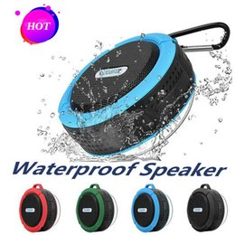 potable speakers Australia - C6 Speaker Bluetooth Speaker Wireless Potable Audio Player Waterproof Speaker Hook And Suction Cup Stereo Music Player High Quality