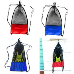 $enCountryForm.capitalKeyWord UK - 2Pcs 48 x 27 cm Heavy Duty Scuba Diving Snorkeling Swimming Mask Fins Flippers Storage Holder Carry Mesh Bag Drawstring Pouch