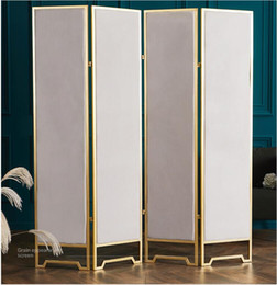 Screen folding mobile partition Ins Nordic living room partition screen folding mobile European simple small family bedroom shelter on Sale