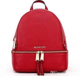 men leather messenger bags black 2019 - High-quality new backpacks designer 2018 fashion women lady black red rucksack bag charms Fashion messenger bag free shi