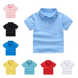 9acb2976b Kids Clothes Boys T-Shirts Summer Tops Polo Shirts Primary Girls Uniform  Toddler Short Sleeve Tees MMA1544