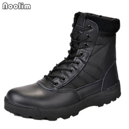 Military Style Shoes Australia - Hot Sell Retro Combat Boots Winter England-style Fashionable Men's Short Black Shoes Military Boots