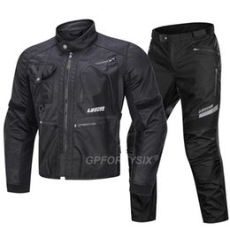 motorcycle riding jackets NZ - LYSCHY Summer Mesh Motorcycle Jacket Anti-fall Reflective Motocross Jacket Chaqueta Motorbike Riding pants CE Protection