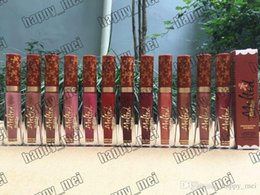 Melted Matte Lipsticks Australia - Factory Direct DHL Free Shipping New Makeup Lips Melted Matte Liquid Lipstick 7ml Gingenarfad Scenked Nude Lipgloss!12 Different Colors