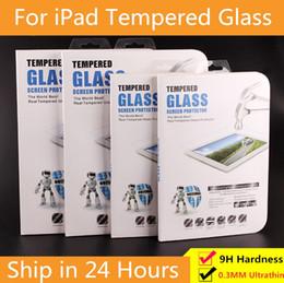 Vente en gros 9H 0.3mm Tablet verre trempé protecteur d'écran pour iPad 2/3/4 Mini 4 Air 9.7 New iPad Pro 10,5 pouces 2018 11 Film de protection