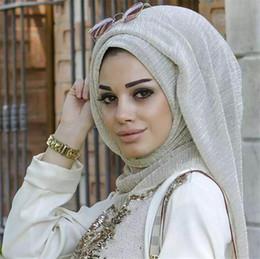 Vente en gros 21 Couleurs Femmes Hijabs Musulmans Mode Foulards 100 * 75 cm Longue Nouvelle Foulards Femme Coton Écharpe En Lin Jersey Châle Musulman Hijab