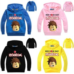 4f373cf05459b Red hoodies foR childRen online shopping - Roblox Hoodies For Kids Boys  Girls Red Nose Day
