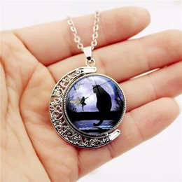 $enCountryForm.capitalKeyWord Australia - Fairy and Black Cat Rotate Time Gemstone Necklace Charms Sweater Chain Fine Jewelry Fashion Crystal Glass Dome Pendant Designer Necklaces