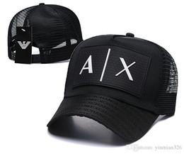 Hot sale A X Baseball Cap AD 3D Letters Hat Snapback Polo Hats Snapback Caps  Mens Mesh Golf ball Hats Designer Trucker Dad Hats DF16G28 3d288c763d05