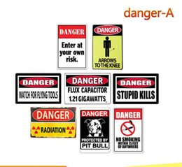 Metal Area Australia - Vintage danger warning area tin sign wall poster painting arts old stupid kills home Bar shop decoration metal signs