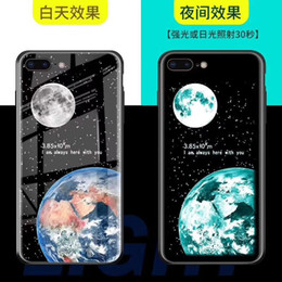 Glasses Case Material Australia - Nighttime fluorescence Fashion mobile phone case iPhone 7 8 X Xr XS protective case graffiti mobile phone case TPU toughened glass material