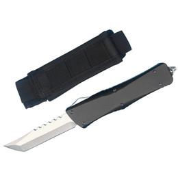$enCountryForm.capitalKeyWord Australia - Drop Shipping Hellhound Blade Auto Tactical Knife D2 Tanto Stone Wash Finish Blade T6061 Handle Outdoor Survival Knives EDC Gear