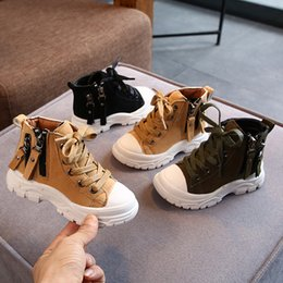 Boys shoes years old online shopping - Baby Boys Fashion Ankle Boots Kids Martin Autumn Shoes New Children Waterproof Sneakers Year Old Black yellow
