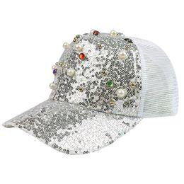 $enCountryForm.capitalKeyWord UK - Summer 2019 parent-child sequin net cap mother-daughter hat trend cap with beads sun protection helmet baseball cap wholesale
