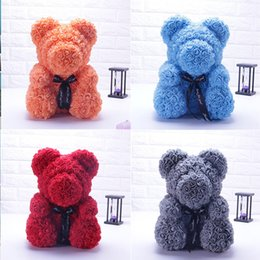 $enCountryForm.capitalKeyWord UK - 2019 Hot 25 40cm Luxury Red Teddy Bear Rose Baked Bear Pike and Rose Fashion Gifts for Women Girl Children Grizzly Flower