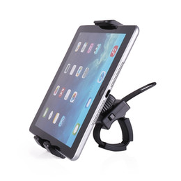 bike cell phone mount Canada - Adjustable Bike Bicycle Tablet Cell Phone Holder Mount Bracket Stand for 3.5-10.5 Inches Phone and Tablet