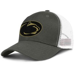 China Fashion Mesh Visor hats Men Women-Penn State Nittany Lions football Golden logo designer hat snapback Adjustable Bucket cap Outdoor supplier lions logos suppliers