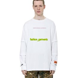 Brand logo shirts online shopping - Brand New Heron Preston Embroidered LOGO Luxury Shirt Men Women Designer Long Sleeve High quality Printed Short Sleeves