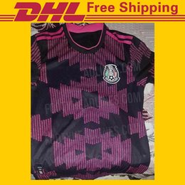 free shipping soccer jersey UK - DHL Free shipping 20-21 Mexico soccer Jerseys home 2020 2021 Mexico national team soccer Jerseys Size can be mixed batch Fans Tops