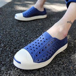 $enCountryForm.capitalKeyWord Australia - 2016 Summer Beach Sandals For Men Size 40-44 Mules Hole Couple Models Jelly Lazy Shoes Factory Wholesale Garden Shoes