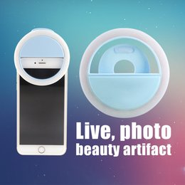 Wholesale Ring light Manufacturer charging LED flash beauty fill selfie lamp outdoor selfie ring light rechargeable for all mobile phone with box