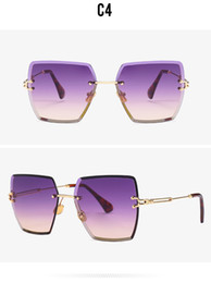 Gradient Tools Australia - Square sunglasses, rimless and Metal frame cut-out, gradient tinted sunglasses fashion trends the street edge tool