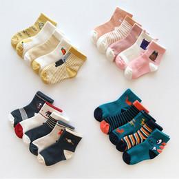 $enCountryForm.capitalKeyWord UK - 5pair lot Kids Cartoon Striped Socks 7 8 Children Soft Cotton Infant Seamless Non-slip Toddler Girl Winter Stripes Sock For Boys