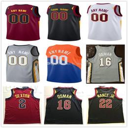 cffbcbb7201 Custom Printed ClevelandCavaliersJerseys Top Quality 2019 2020 Mens Man  White Black Red Gray soccer Jersey cheap football shirts size S-XXL