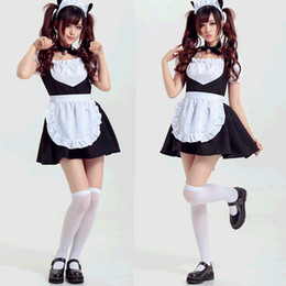 69a6cd94c7 Anime girls cAts online shopping - Cute Anime Cat Bell Maid Dress Claasic  Cosplay Costume Girls
