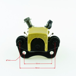 PumP clamP online shopping - New High Performance mm Gold M10 Disc Brakes Front Brake Calipers Clamp Lower Pump Motorcycle Parts For ATV Dirt Pit Bike