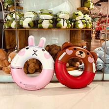 Toys For Years Child NZ - Lovely cartoon PVC kids swimming pool toys children inflatable floats lifebuoy swimming ring for sale