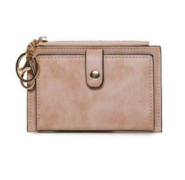 China Wallet Leather Australia - ETya women's fashion Mini PU leather wallet lady short wallets purse girl coin money holders credit card