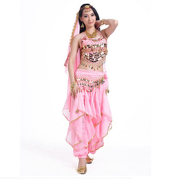 8946f61723 Hand made Professional Indian Belly Dance 6PCS Set Arabian Dancing National  Costume Stage Performance Clothes for Women 7 Colors