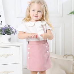 c9350148f Ins Sweet baby Girls Trajes Trajes de verano Trajes de verano nuevo 2019  Girls Tops Blusas + Lápiz Faldas Niños Conjuntos 2pcs niños ropa de  diseñador A4240