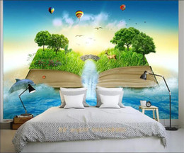 book backdrop NZ - custom size 3d photo wallpaper living room bed room mural fantasy book waterfall woods picture sofa TV backdrop wallpaper non-woven sticker