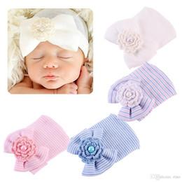Cotton Knit Baby Bonnets Australia - baby girls hair bows hats newborn crochet beanie hat toddler kid knit hair accessories infant boy bonnet baby winter cotton photography caps