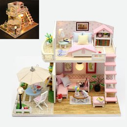 Toys & Hobbies Mylb Diy Dollhouse 3d Wooden Mini Doll House Lifelike Handmade Miniature Dollhouses Kit Toys For Children Gifts Pretty And Colorful