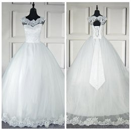 Robe Mariee Vintage Australia - Hot Selling New Vintage A line Wedding Dresses Jewel Sleeveless Applique Lace Up Sweep Train Bridal Gowns robe de mariee